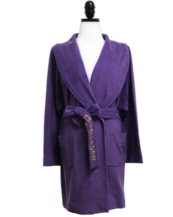 [HOTEL]FANCY MIX BATH ROBE - ultra violet/glitter gold