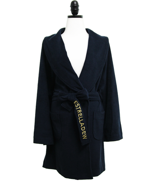 [HOTEL]FANCY MIX BATH ROBE - midnight navy/glitter gold