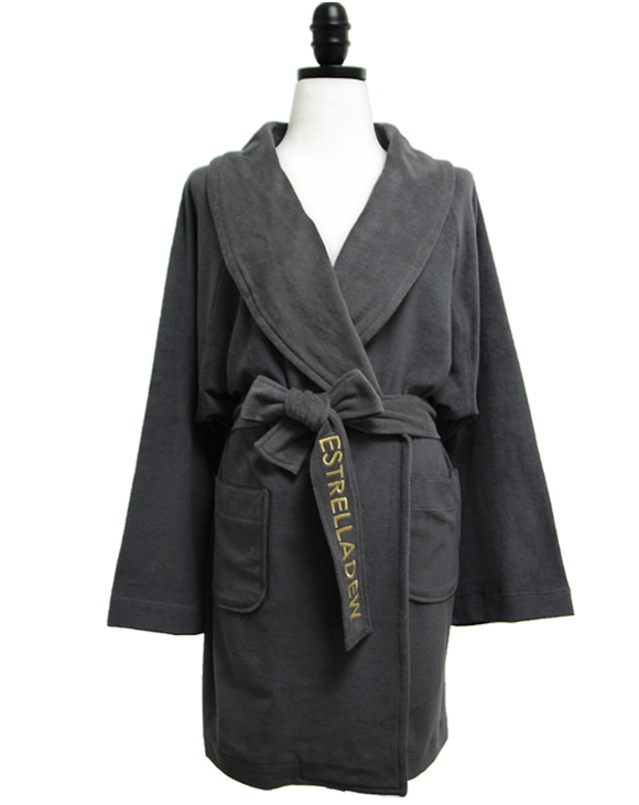 [HOTEL]FANCY MIX BATH ROBE - nebula gray/glitter gold