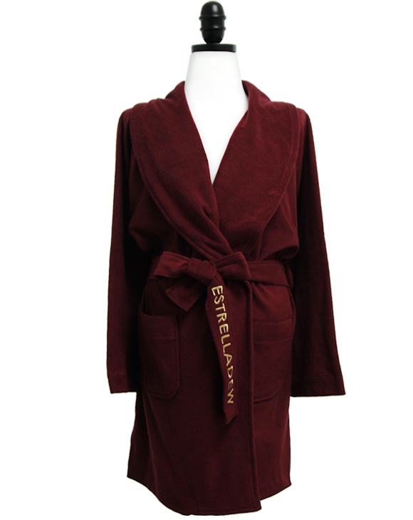 [HOTEL]FANCY MIX BATH ROBE - aurora wine/glitter gold