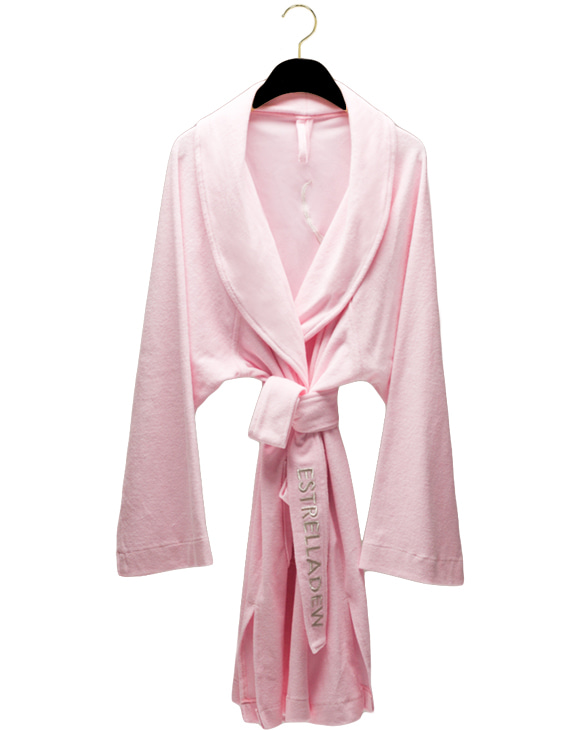 [HOME] FANCY MIX BATH ROBE - blush pink/glitter silver