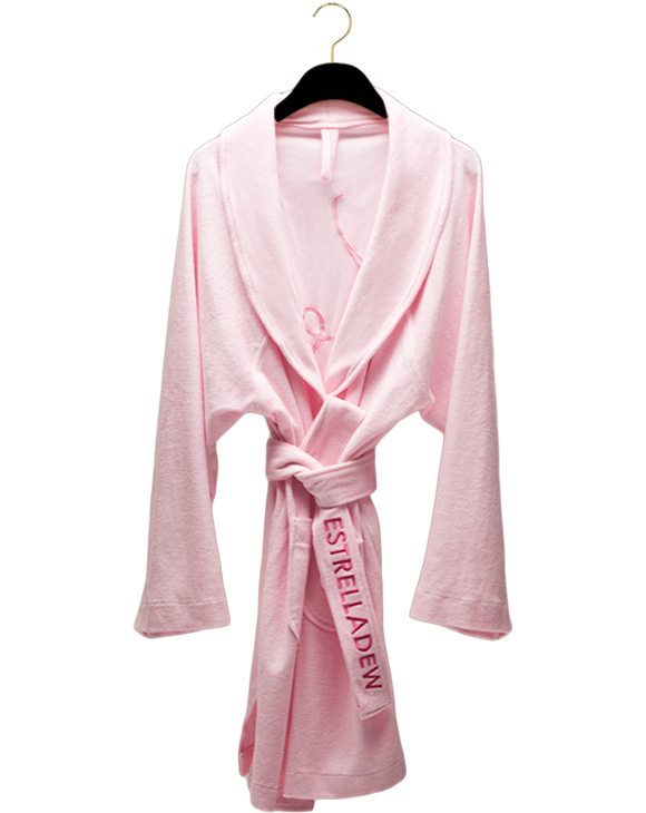 [HOME] FANCY MIX BATH ROBE - blush/vivid pink