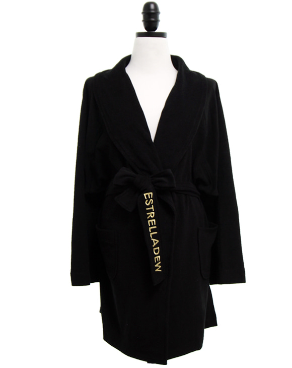[HOTEL]FANCY MIX BATH ROBE - black hole/glitter gold
