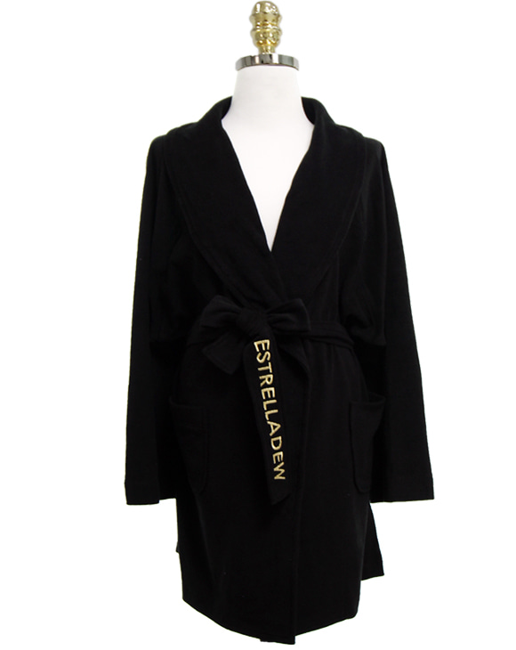 [HOTEL] FANCY MIX BATH ROBE - black hole/glitter gold