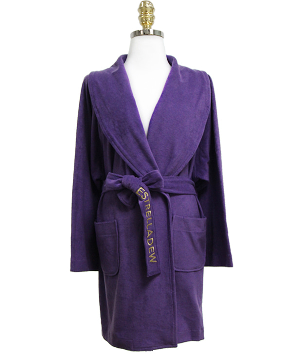 [HOTEL] FANCY MIX BATH ROBE - ultra violet/glitter gold
